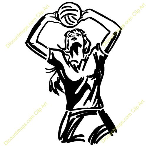 Setter volleyball clipart.