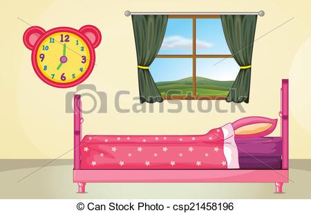 EPS Vectors of Bedroom setting.