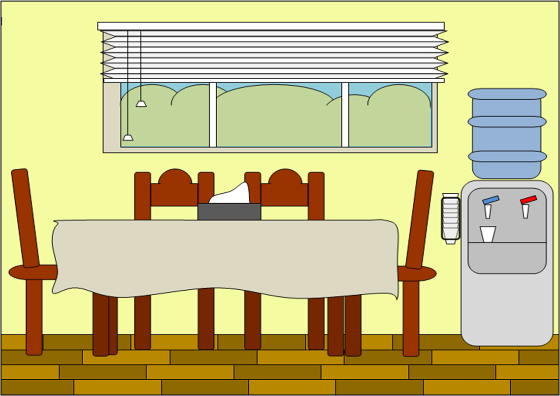 Find free clipart or photos of large dinner table.