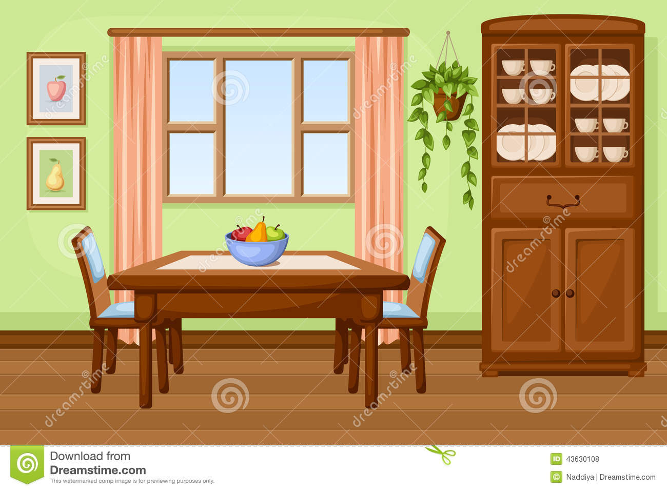 Clipart ideas for dining room.