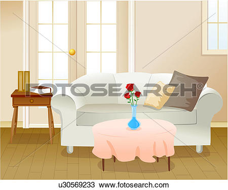Drawing of Living room setting u30569233.