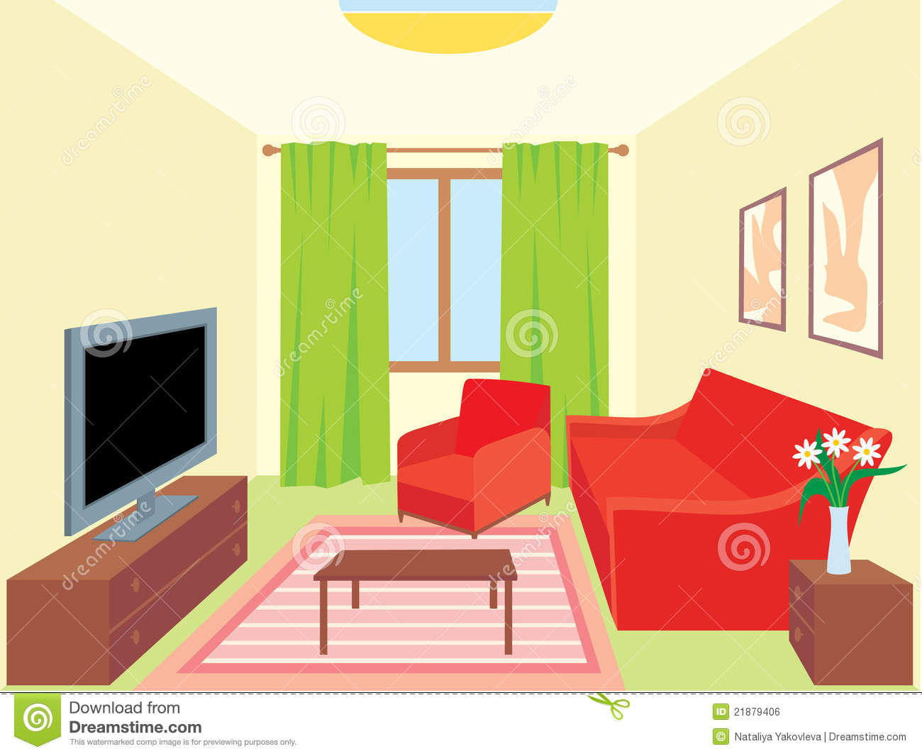 Living Room. Interiors Royalty Free Stock Image.