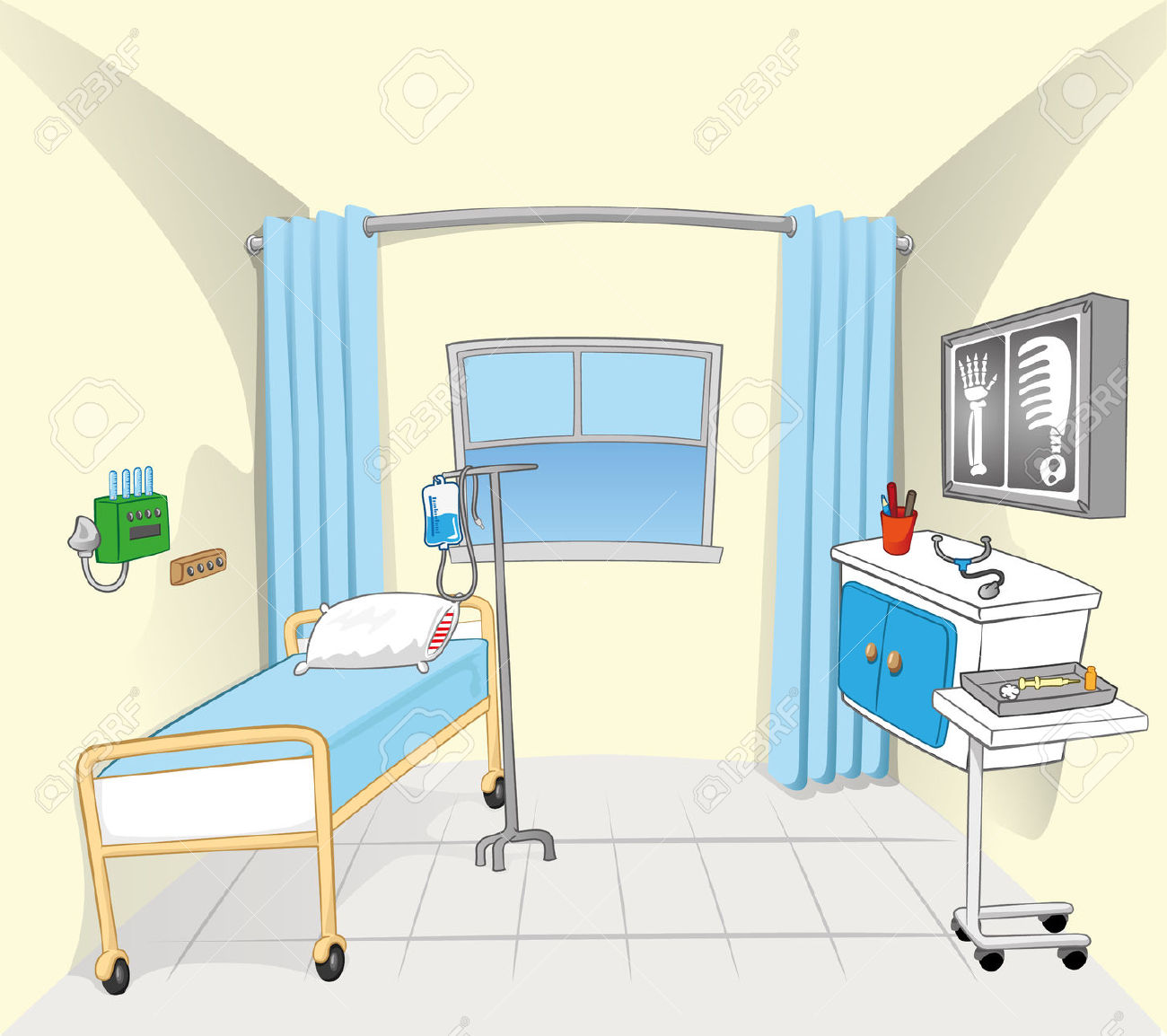 Hospital Room Clipart.
