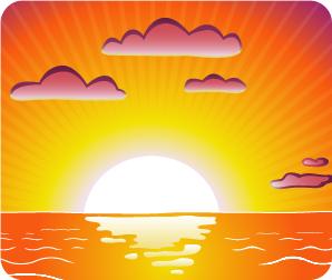 Sun going down clipart - Clipground Golf Hole Clip Art
