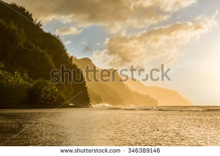Na Pali Stock Photos, Royalty.