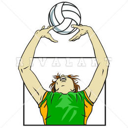 Download basic skills in volleyball set clipart Beach.