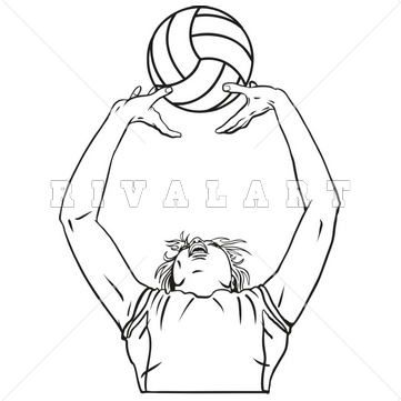 Pin by Rivalart.com on Volleyball Clip Art in 2019.