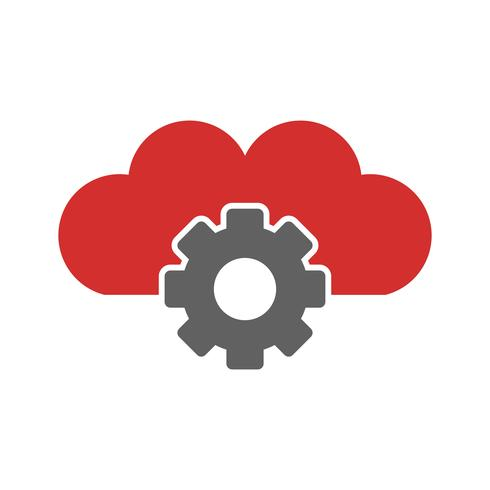 Cloud Settings Icon Design.