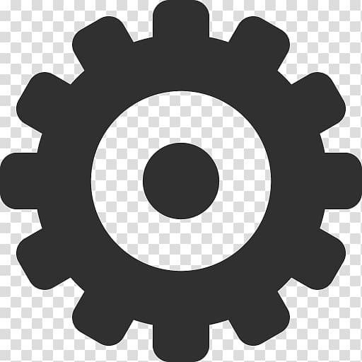 Gray setting logo, hardware accessory circle, Settings.
