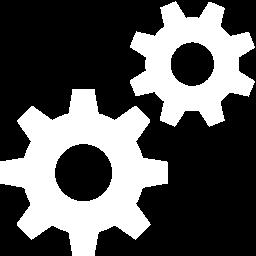 Free White Settings Icon.