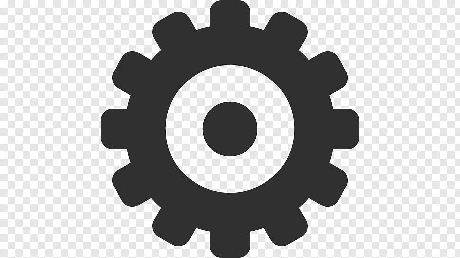 Gray setting logo, hardware accessory circle, Settings free.