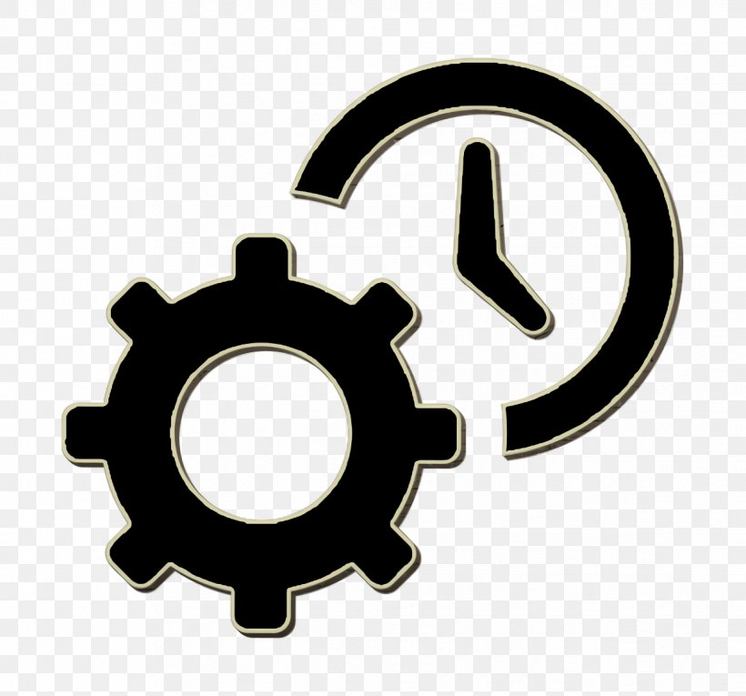 Settings Icon Clock Icon Tools And Utensils Icon, PNG.