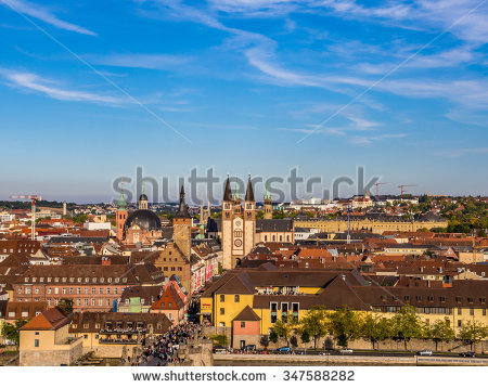 Cathedral Germany Wurzburg Stock Photos, Royalty.