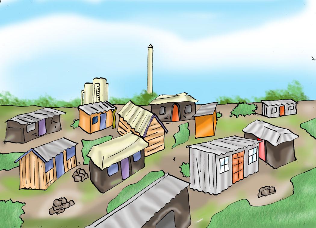 Urban Settlement Clipart.