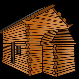 Free Log Cabin Clip Art Image.