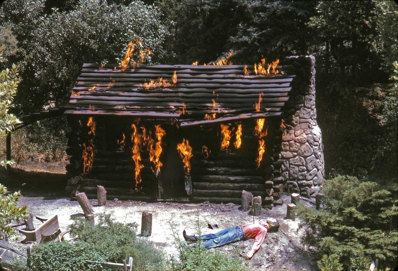 Burning Settlers Cabin (1965). An early victim of political.