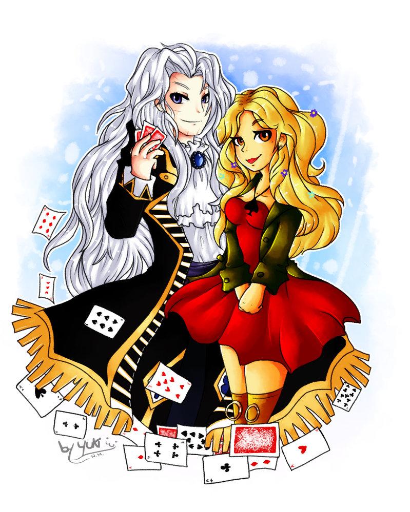 Setzer and Em .Art Trade. by YukiPyro on DeviantArt.