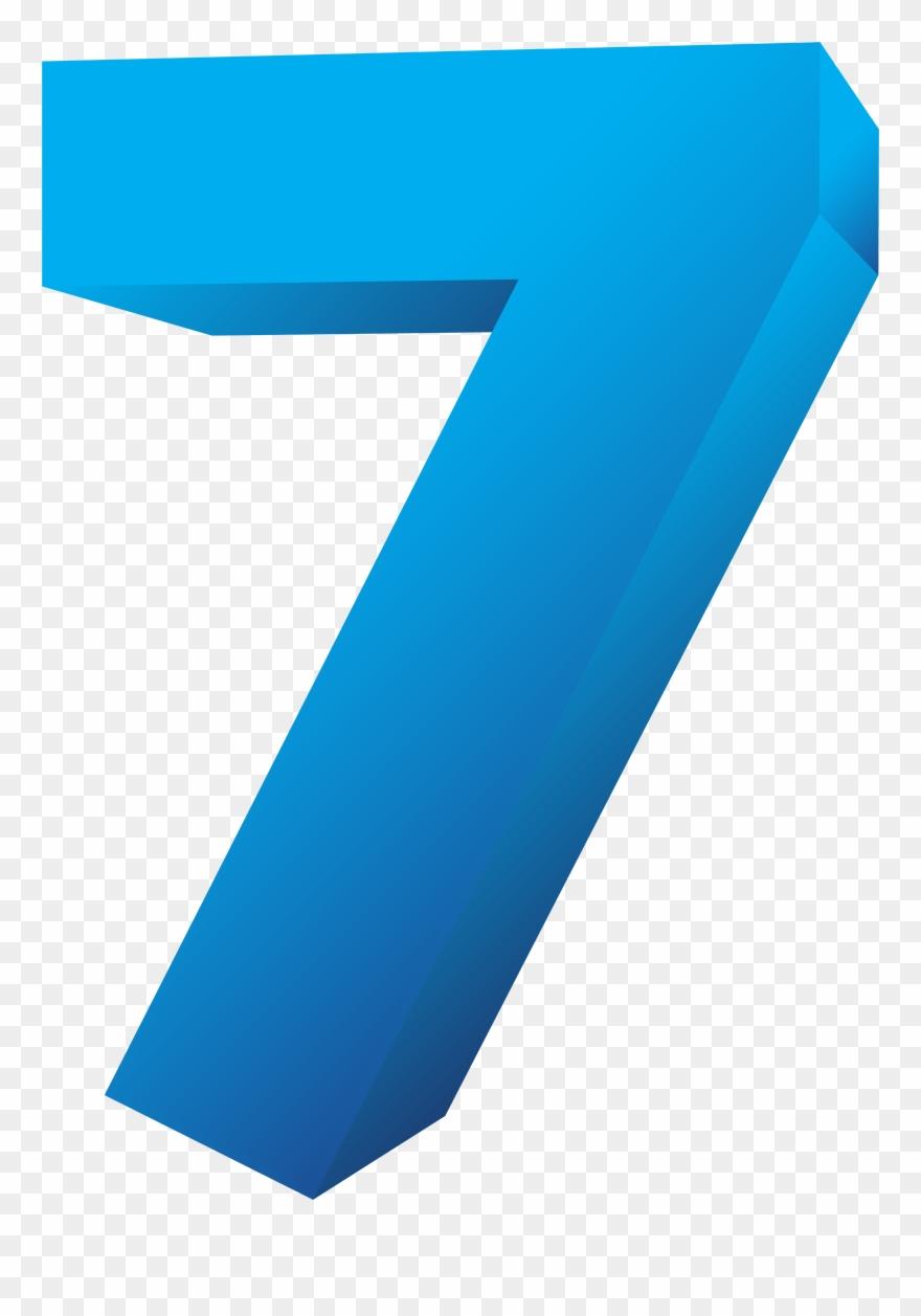 Blue Number Seven Transparent Png Clip Art Image Gallery.