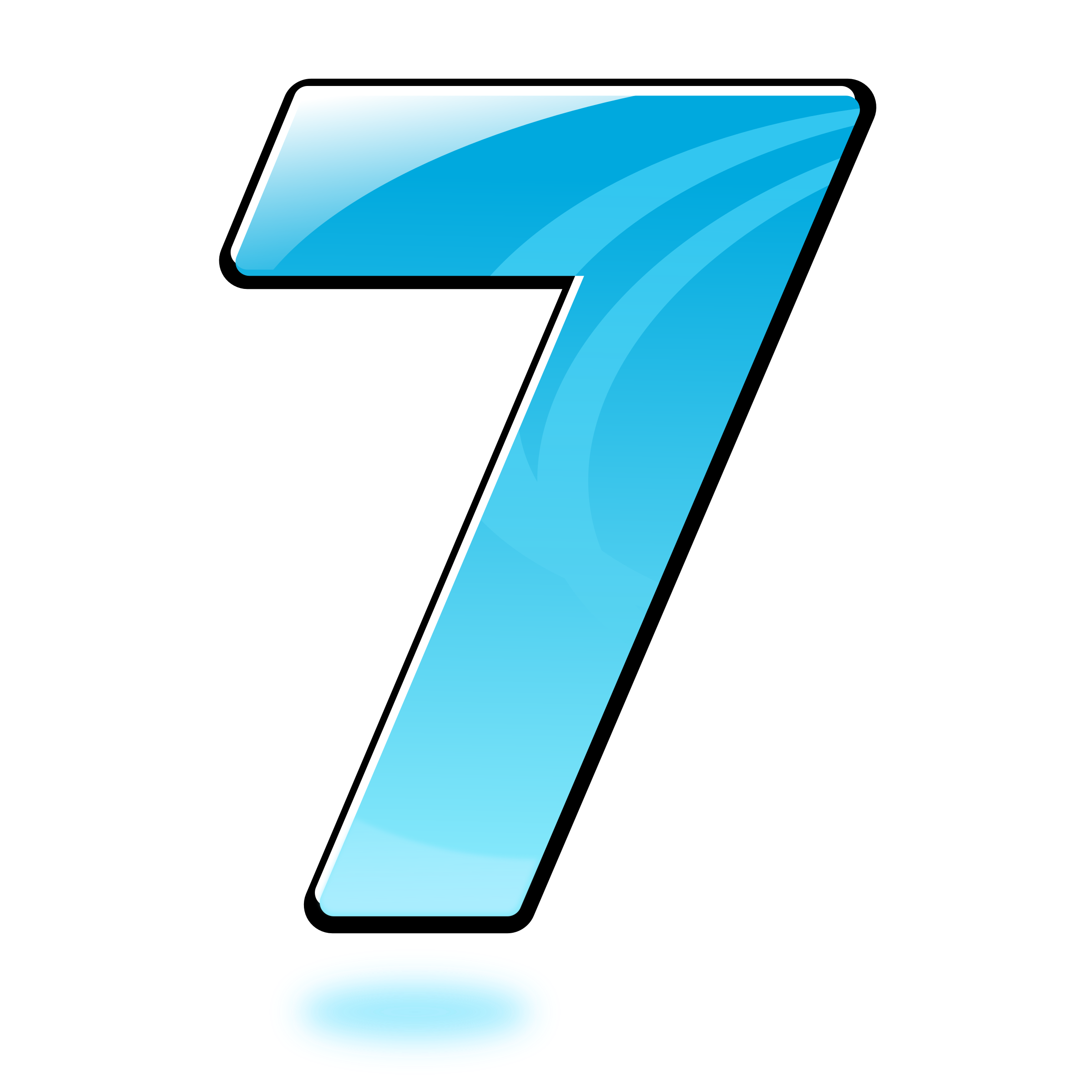 Number Seven Clipart.