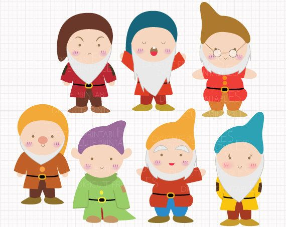Seven Dwarfs Clipart.