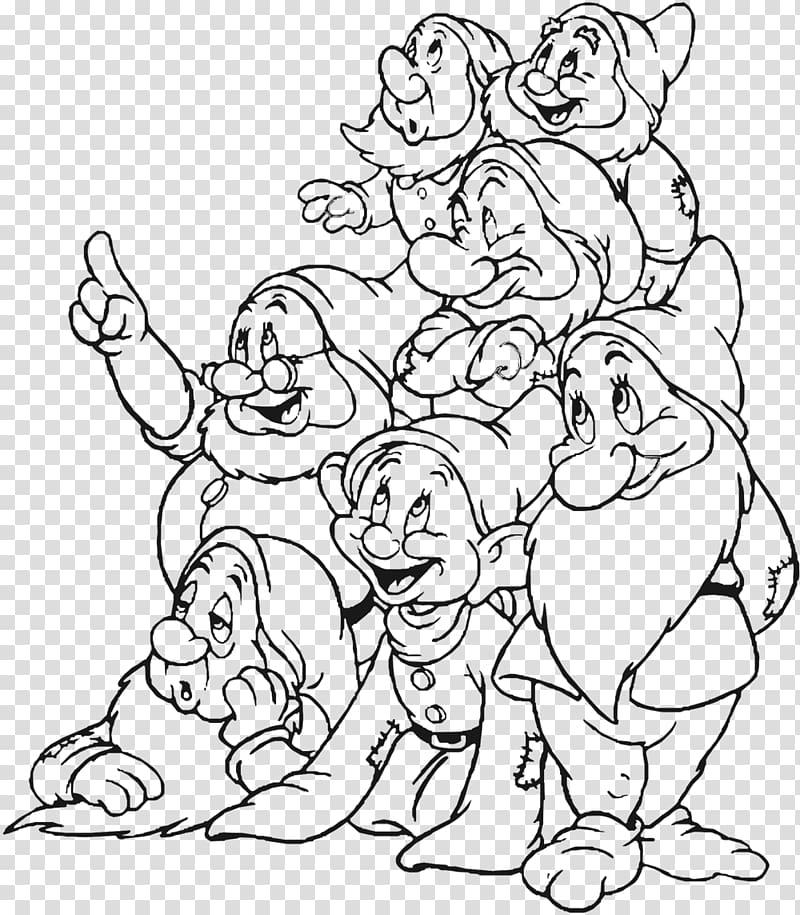 Snow White Seven Dwarfs Grumpy Coloring book, snow white and.
