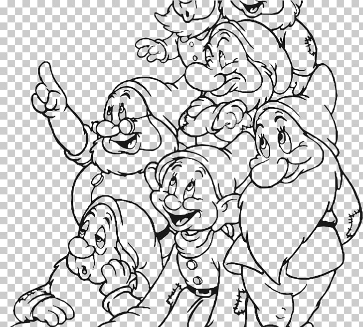 Seven Dwarfs Snow White Dopey Sneezy Bashful, snow white PNG.
