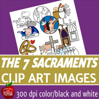 THE SEVEN SACRAMENTS CLIP ART.