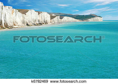 Stock Photograph of Seven Sisters East Sussex England k6782469.