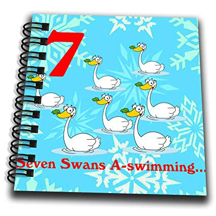 3dRose db_158232_3 12 Days of Christmas Seven Swans A.