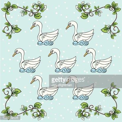 The Twelve days Of Christmas Series. Seven Swans a Swimming.