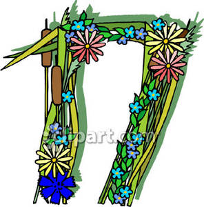 Number 17 Clipart.