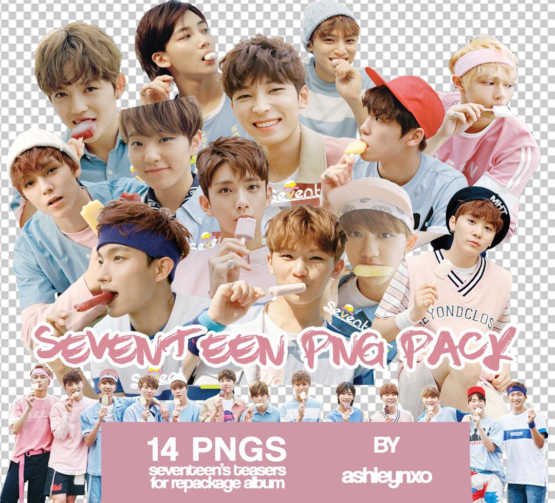Seventeen kpop PNG pack by ashleynxo on DeviantArt.