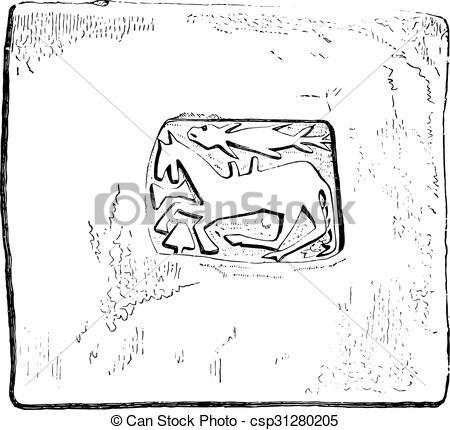 Vector Clipart of Specimen in the church of Sainte.