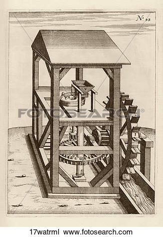 Drawing of Antique Illustration (copper engraving) of a.
