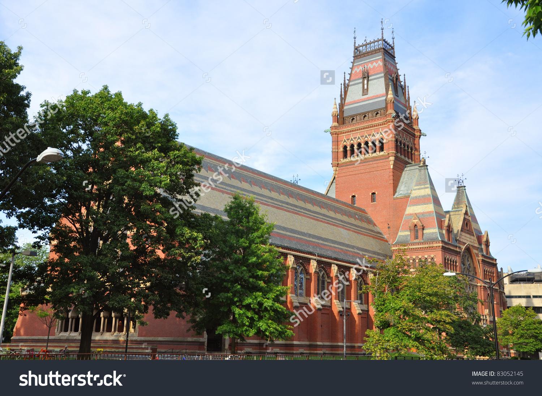 Memorial Hall In Harvard University, Cambridge, Massachusetts, Usa.