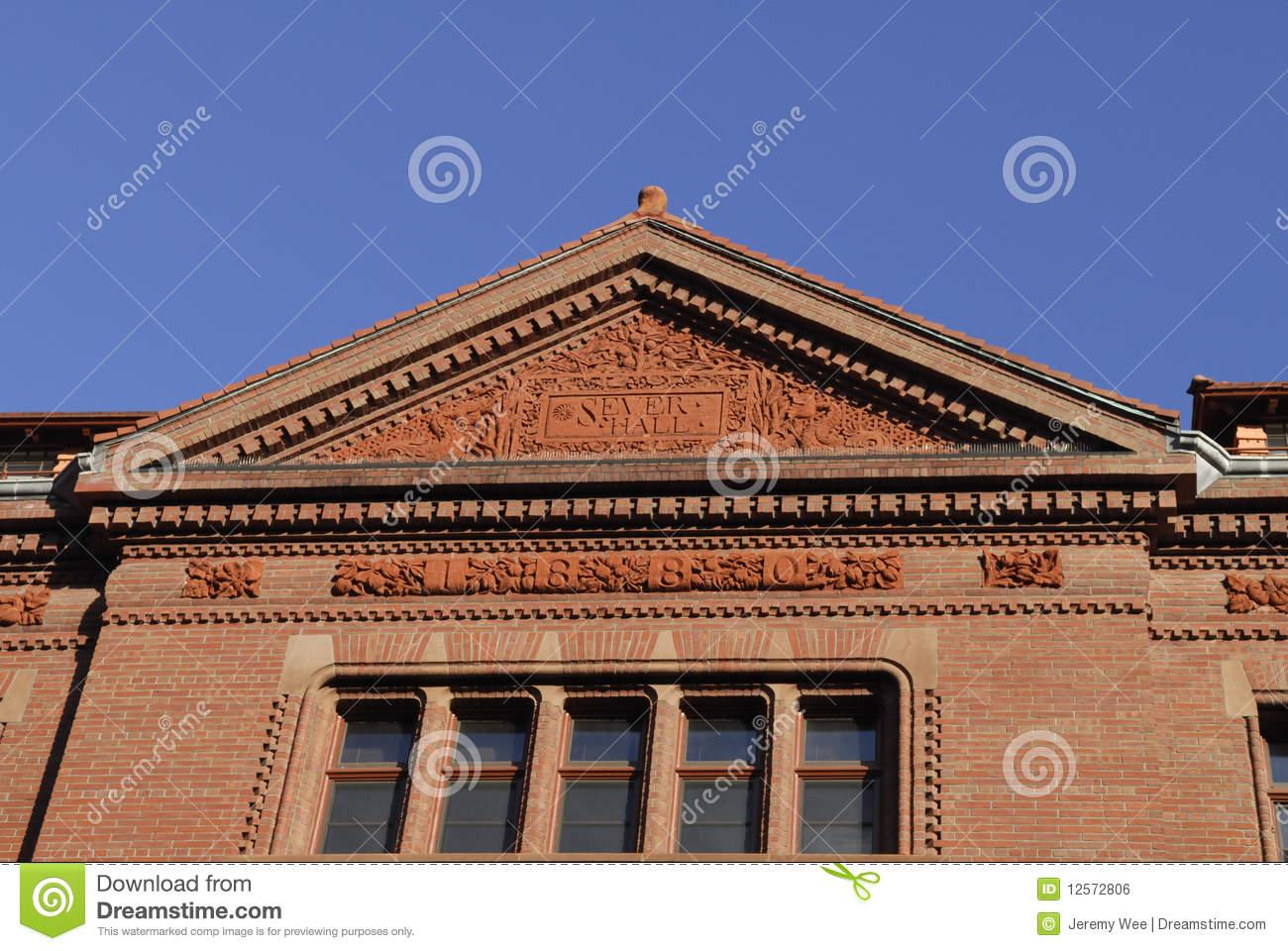 Harvard University Sever Hall Royalty Free Stock Image.