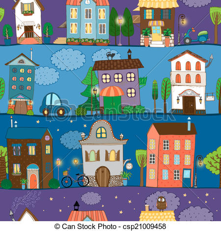 Clipart Vector of Several colorful and cute house designs at.