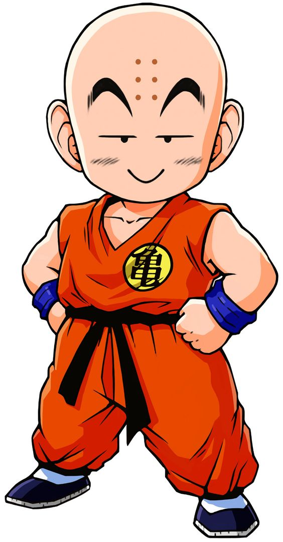 dragon ball krillin when he groes up.hes gonna die several.