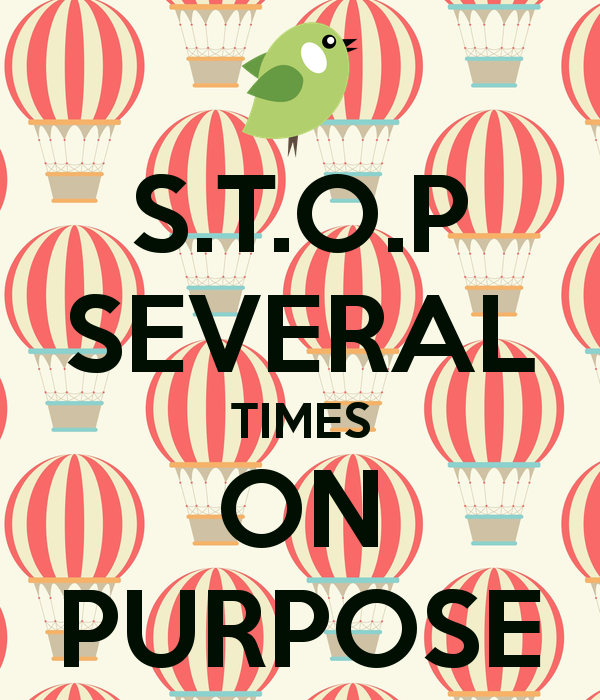 S.T.O.P SEVERAL TIMES ON PURPOSE Poster.