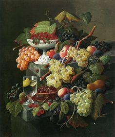 Champagne, Fruit and Still Life on Pinterest.