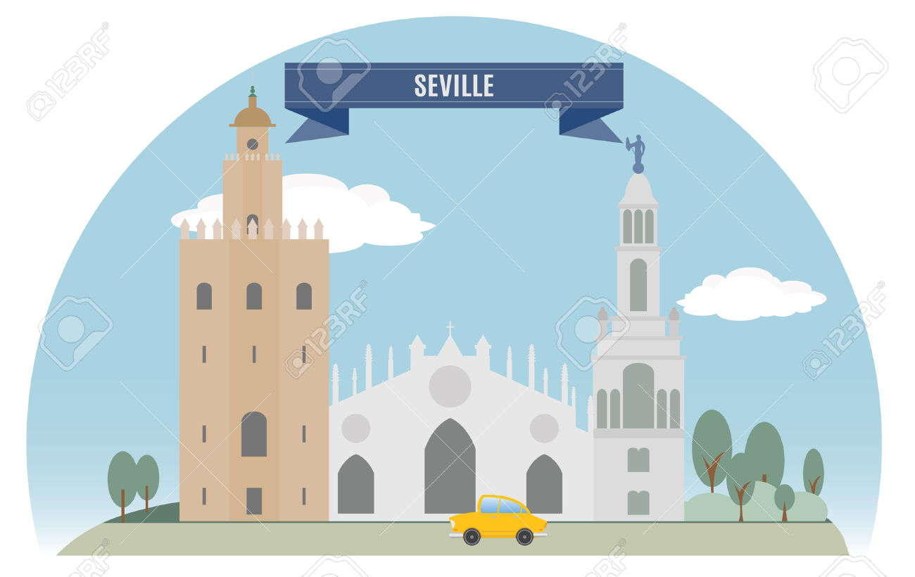Seville, Spain For You Design Royalty Free Cliparts, Vectors, And.