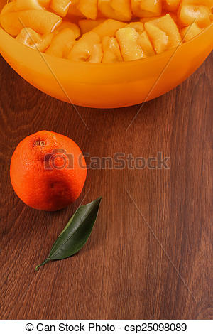 Pictures of The Seville Orange Jam Part on The Wood csp25098089.