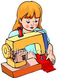 Sewing clothes clipart.