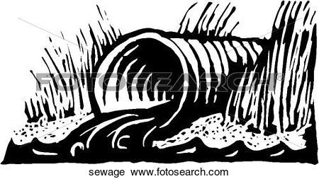 Clipart of Raw Sewage sewage.