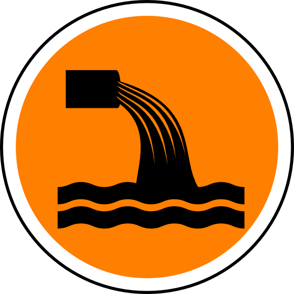 Sewage Symbol Vector.