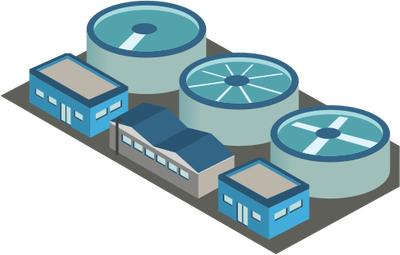 Gallery For > Sewage Treatment Plant Clipart.