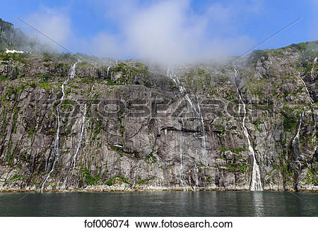 Stock Photo of USA, Alaska, Seward, Resurrection Bay, view to.