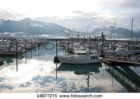 Stock Image of Harbor at Seward, Alaska k8877215.