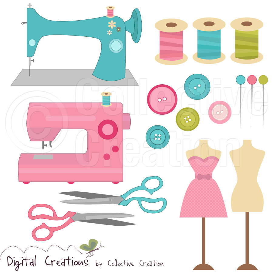 25+ Free Sewing Clip Art.