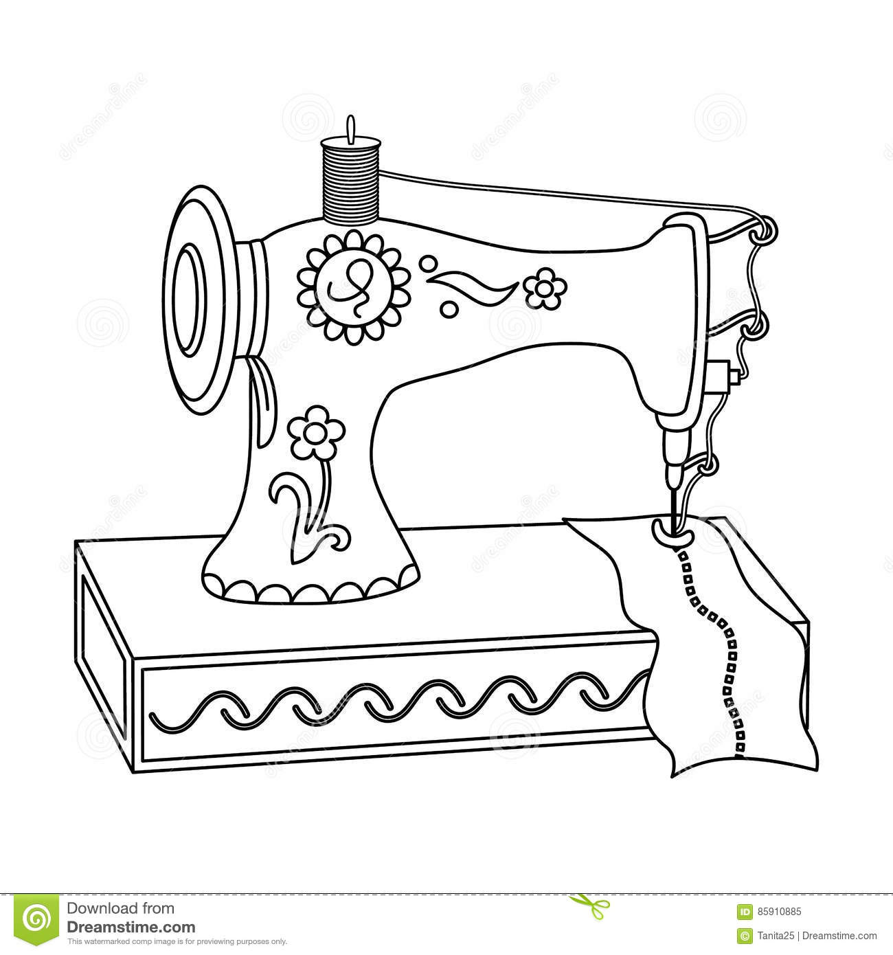 Sewing Machine Clipart Black And White.